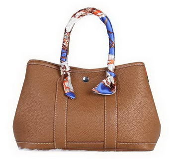 Hermes Garden Party 30cm Tote Bag Grainy Leather Wheat