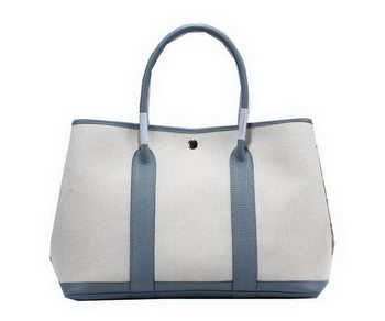 Hermes Garden Party 36cm Tote Bag Canvas SkyBlue