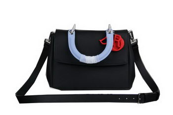 Dior Be Dior Flap Bag Nappa Leather CD99018S Black&SkyBlue