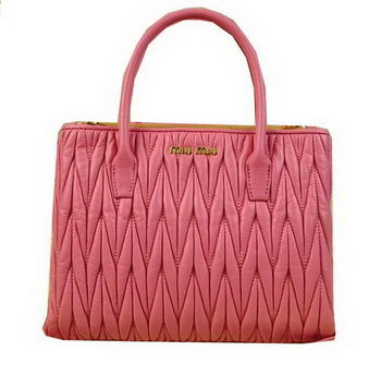 miu miu Matelasse Leather Three Pocket Bags RN0941 Pink