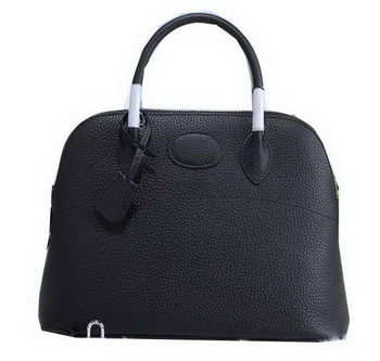 Hermes Bolide 31CM Calfskin Leather Tote Bag H509083 Black