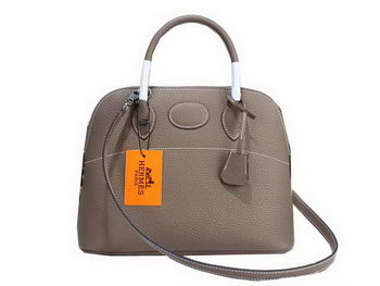Hermes Bolide 31CM Calfskin Leather Tote Bag H509083 Grey