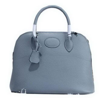 Hermes Bolide 31CM Calfskin Leather Tote Bag H509083 SkyBlue