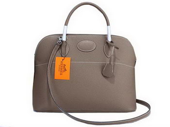 Hermes Bolide 37CM Calfskin Leather Tote Bags H509084 Grey