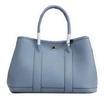 Hermes Garden Party 30cm Tote Bags Grainy Leather SkyBlue