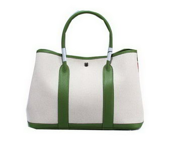 Hermes Garden Party 36cm Tote Bag Canvas Green