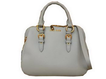 miu miu Madras Goat Leather Top-handle Bag RL0063 SkyBlue
