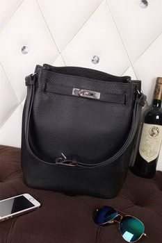 Hermes So Kelly Hobo Bag Original Leather Black