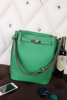 Hermes So Kelly Hobo Bag Original Leather Green