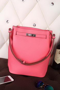 Hermes So Kelly Hobo Bag Original Leather Pink