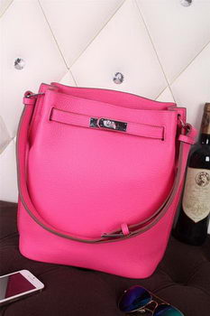 Hermes So Kelly Hobo Bag Original Leather Rose