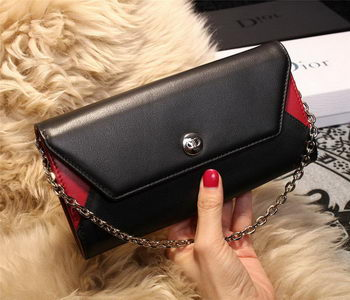 Dior ADDICT RENDEZ-VOUS Wallet M4018 Black&Red