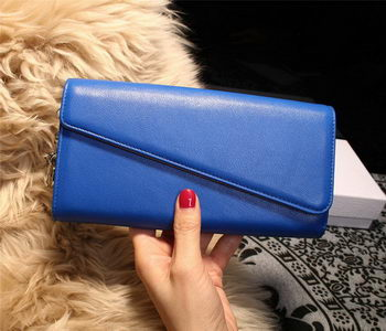 Dior Diorissimo rencontre Wallet Smooth Calfskin M2202 Blue