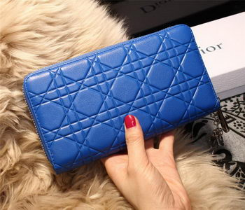 Dior Escapade Wallet in Sheepskin Leahter D1873 Blue