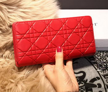 Dior Escapade Wallet in Sheepskin Leahter D1875 Red