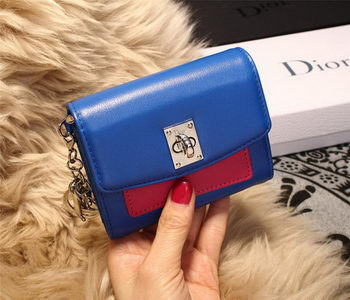 Dior Twist Rendez-Vous Wallet Smooth Calfskin M3160 Blue