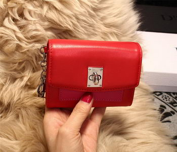 Dior Twist Rendez-Vous Wallet Smooth Calfskin M3160 Red