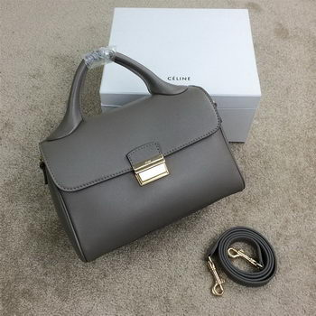 Celine Small Top Handle Bag Original Leather C20135S Grey