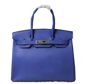 Hermes Birkin 35CM 30CM Tote Bag Lizard Leather H35H30 Blue