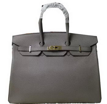 Hermes Birkin 35CM 30CM Tote Bag Lizard Leather H35H30 Grey