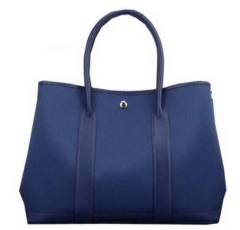 Hermes Garden Party 36cm 30cm Tote Bag Canvas Blue