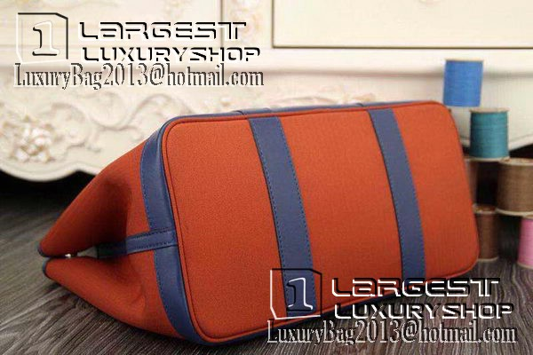 Hermes Garden Party 36cm 30cm Tote Bag Canvas Orange&Blue
