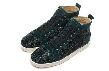 Christian Louboutin Casual Shoes Suede Leather CL888 Green