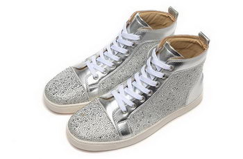 Christian Louboutin Casual Shoes Suede Leather CL888 Silver