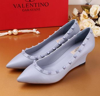 Valentino Smooth Leather Rivet Pump VT233YZM SkyBlue
