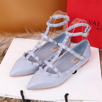 Valentino Smooth Leather Rivet Sandal VT228YZM SkyBlue