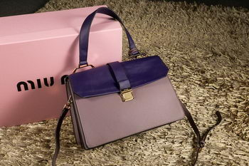 miu miu Madras Goat Leather Top Handle Bag RN1108 Violet&Lavender