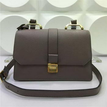miu miu Madras Goat Leather Shoulder Bag RT0609 Grey