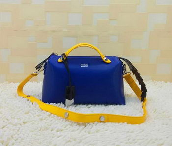 Fendi BY THE WAY Bag Calfskin Leather FD2356 Blue&Yellow