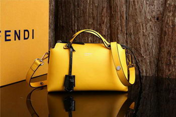 Fendi BY THE WAY Bag Calfskin Leather FD2356 Yellow