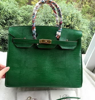 Hermes Birkin 35CM Tote Bag Croco Leather H35CO Green