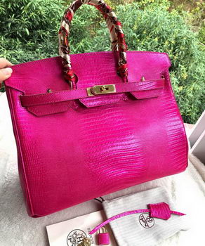 Hermes Birkin 35CM Tote Bag Croco Leather H35CO Rose