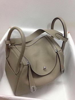 Hermes Lindy 30CM Original Leather Shoulder Bag HLD30 Khaki