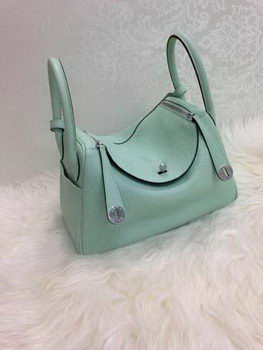 Hermes Lindy 30CM Original Leather Shoulder Bag HLD30 Skyblue