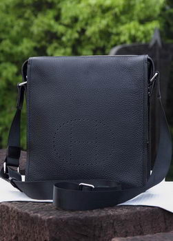 Hermes Messenger Bag Original Calf Leather H80014 Black
