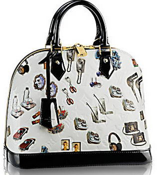 Louis Vuitton Monogram Vernis Stickers Alma PM M50466