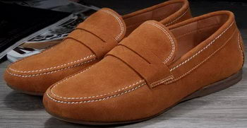 Hermes Casual Shoes Suede Leather HO0386 Brown