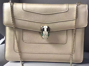 BVLGARI Shoulder Bag Calfskin Leather BG90072 Gold