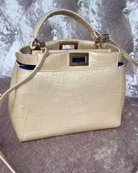 Fendi Regular Peekaboo Small Tote Bag F30320 Gold