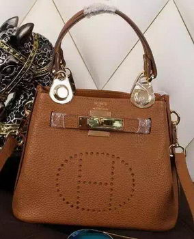 Hermes Evelyne Tote Bag Calfskin Leather HS23 Wheat