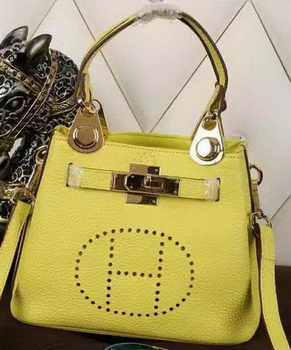 Hermes Evelyne Tote Bag Calfskin Leather HS23 Yellow