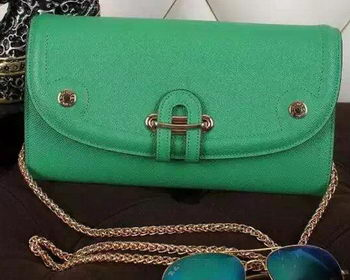 Hermes Passe-Guide Shoulder Bag Calfskin Leather H33225 Green