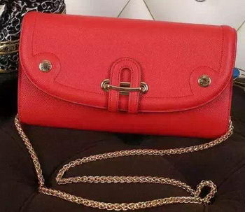 Hermes Passe-Guide Shoulder Bag Calfskin Leather H33225 Red