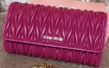 miu miu Matelasse Leather Clutch 299870 Rose