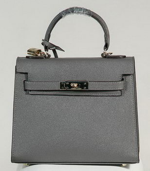 Hermes Kelly 25cm Tote Bag Togo Leather K2138 Grey