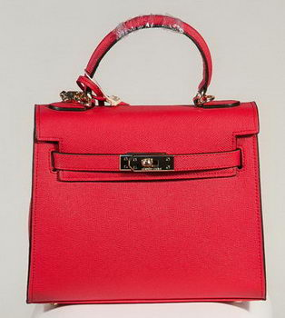 Hermes Kelly 25cm Tote Bag Togo Leather K2138 Red